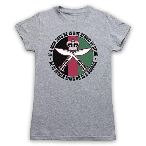 Gurkha Regiment Sam Manekshaw Army Quote Camiseta para Mujer Gris Claro