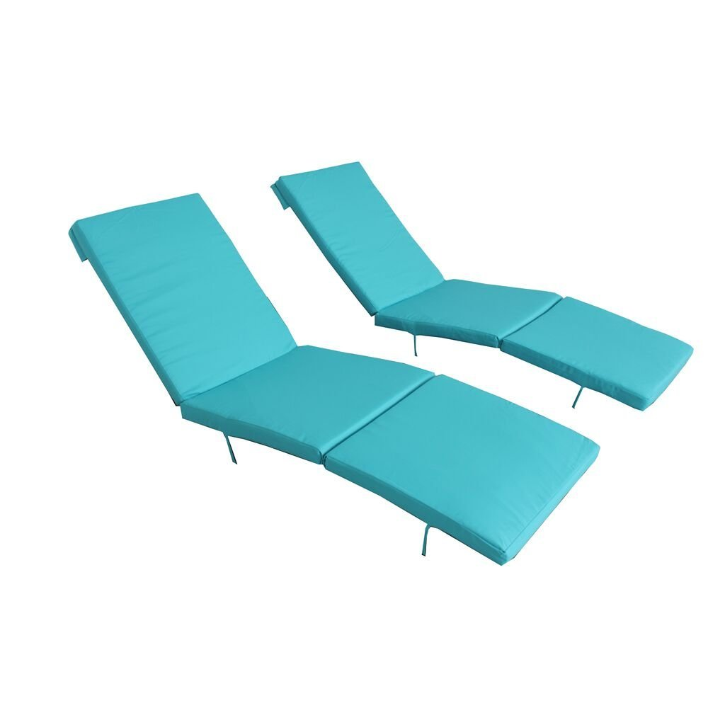 Outime Replacment Cushion for Lounge Chair Set with Foam and Cover(Set of Two,Turquoise)