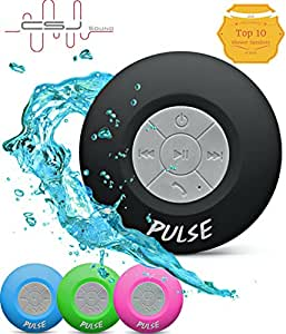 Pulse Bluetooth 4.0 NOT 3.0 Wireless Waterproof Speaker - Music in the Shower Never Sounded so Good! Lifetime Guarantee