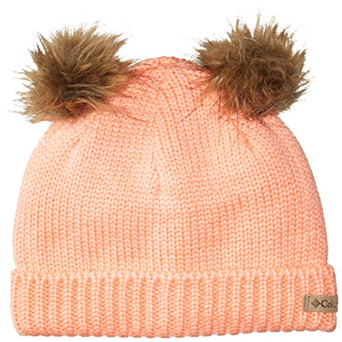 Columbia Girls' Toddler Snow Problem Beanie, Tiki Pink, One -