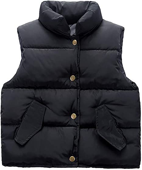 Simple Warm Outwear Gilet Baby Boys Girls Puffer Down Vest Kids Lightweight Sleeveless Jacket Waistcoat