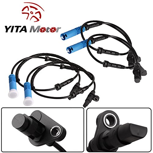 YITAMOTOR 4 pcs ABS Wheel Speed Sensor Front Rear Left & Right For BMW E39 525 528i 540i (E39 Abs Sensor compare prices)
