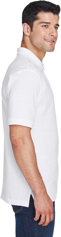 Harriton Mens Ringspun Cotton Pique S-sleeve Polo