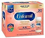 Enfamil A.R. Infant Formula for Spit Up, Ready to Use, 2 Fluid Ounce Nursette Bottle, 6 Count (Pack of 8)