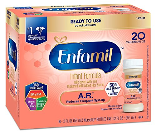 Enfamil A.R. Infant Formula - Clinically Proven to reduce Spit-Up in 1 week - Ready to Use Nursette Bottles, 2 fl oz (48 count)