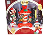 Gemmy Airblown Inflatable Mickey, Minnie and Santa with Color Lights Animated Carousel