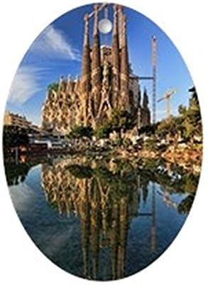 La Sagrada Familia, Barcelona, España – Oval vacaciones Navidad adorno: Amazon.es: Hogar