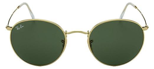39a7a14c08815 Óculos de Sol Ray Ban Round Metal Rb3447l 001 53 Dourado Polido ...
