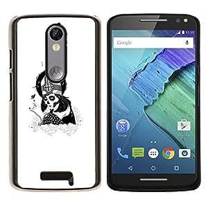 Stuss Case / Funda Carcasa protectora - Cráneo del azúcar de Goth Papa Chica - Motorola Moto X3 3rd Generation