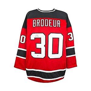 Martin Brodeur Autographed New Jersey Devils Custom Home Jersey - Steiner COA