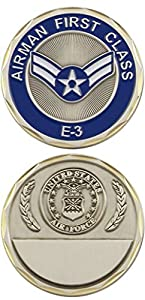 U.S. Air Force Airman First Class E-3 Challenge Coin from Eagle Crest
