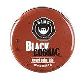 GIBS Black Cognac Beard Balm-Aid, 2 Ounces.