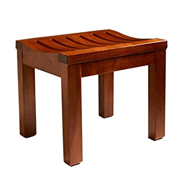 Shower/Bath Stools Wooden Shower Seat Stool Wood Change Shoes Stool ...
