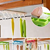 VIPASNAM-Ceiling Wall Cabinet Kitchen Utensils Rack Organizer Hanging Rod Storage Holder(random color)