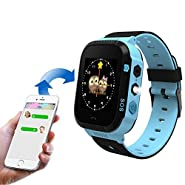 Smart Watch for Kids, LBS Monitor Locator Watch Phone Two-way Call Activity Tracker With Electronic Fence SOS Safe Anti-Lost Location Device Tracker for Kids Safe