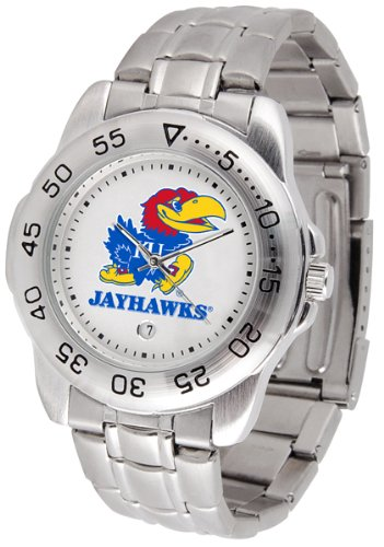 Kansas Jayhawks Men's Sport ''Game Day Steel'' Watch
