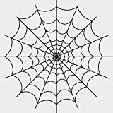 "8"" Round Cake - Spider Web Halloween - Edible Cake or Cupcake Topper - D20016"