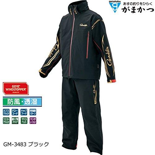 Gamakatsu (Gamakatsu) rainwear wind stopper (R) light resistance suit L black GM3483
