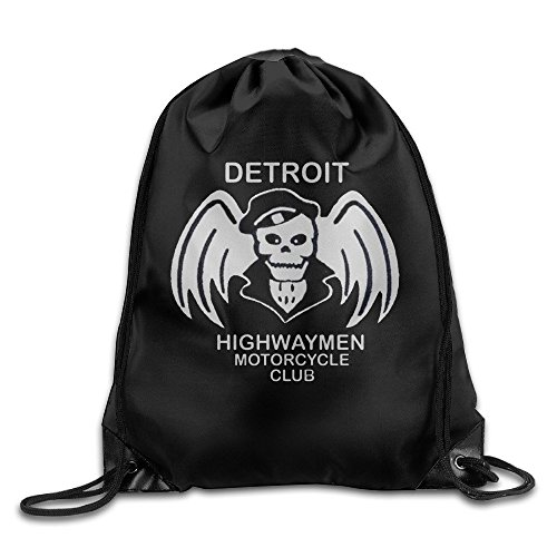 Price comparison product image Detroit Highwaymen Motorcycle Club Drawstring Backpack Bags