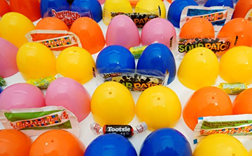 Candy Filled (West End Studios Easter Eggs Prefilled with Candy, Pack of 100 Multicolored Eggs for Your Egg Hunt)