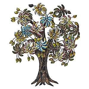 Iron Decorative Iron Cast Tree - Multi Color