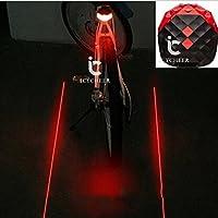 Icycheer de vélo arrière avertissement clignotant lampe d'alarme de la lumière de sécurité pour vélo de montagne Vélo résistant à l'eau Feux arrière