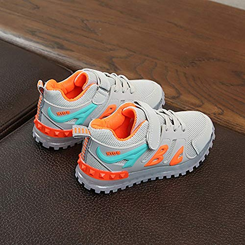 Boys Girls Led Light Luminous Shoe Mesh Outdoor Casaul Shoes(Toddler/Little Kid/Big Kid) by Lurryly (Image #1)