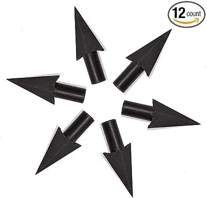 12PCS HANDMADE BLACK WOOD ARROWS HUNTING 125GR BROADHEADS ARCHERY FOR RECURVE