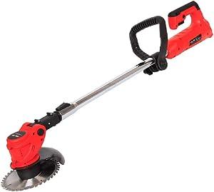 Electric Grass Trimmer Edger Lawn Mower 21V 2000MAh Lithium-Ion Cordless Grass Brush Cutter Kit Pruning Cutter Garden Tools