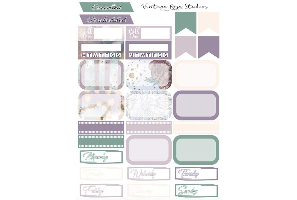 BFF Best Friends Planner Stickers Vertical Weekly Kit for Erin Condren Life Planners for All Planner Type Stickers