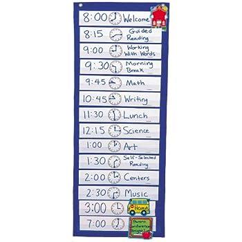 Amazon com scheduling pocket chart carson cd5615 classroom
