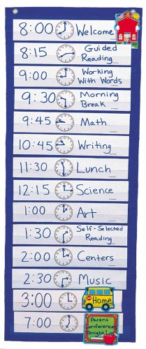 (Scheduling Pocket Chart (Carson CD5615))