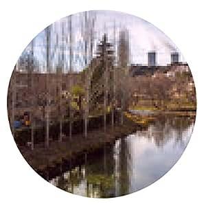 alfombrilla de ratón Central nuclear y el río. Trillo. España - ronda - 20cm