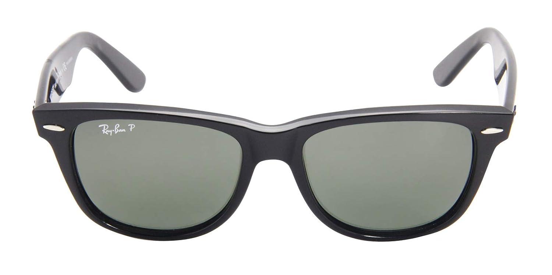 0ee3f8bdfd81 Amazon.com  RAY-BAN Polarized Wayfarer Sunglasses Black 54 mm  Clothing