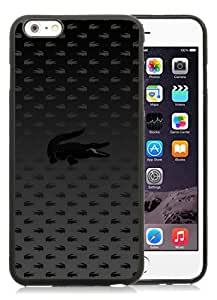 Excellent protection Lacoste 13 Black TPU Cover Case For iPhone 6 Plus(5.5)