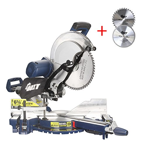 Ainfox 12-Inch Sliding Compound Miter Saw, 15 Amp Dual Bevel with Laser and LED Work Light, Miter Saw with 12 inches Combo Saw Blade