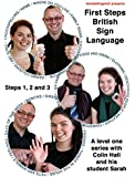 """Level one BSL DVD box set - """"First Steps British Sign Language steps 1,2 and 3"""" (2011)"""