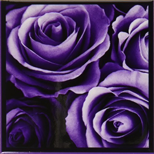 3dRose cst_29807_3 Close Up of Dreamy Lavender Purple Rose Bouquet-Ceramic Tile Coasters, Set of 4