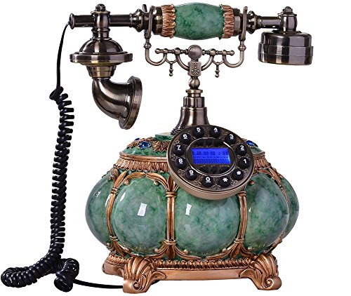 Edge To Corded Telephones Creative Antique Phone Landline, Pumpkin Metal Resin Phone, Home-style Fixed-line Telephones With Live Display by Edge To