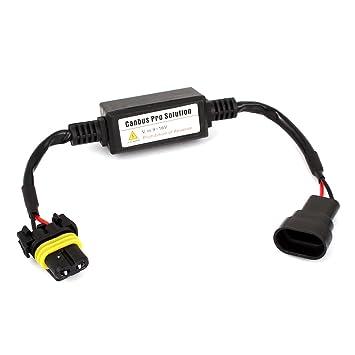 Canbus 9007 bombillas LED sin error Decoder adaptador de cables para Auto: Amazon.es: Coche y moto