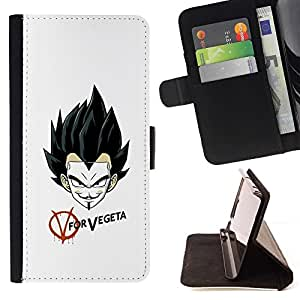 DEVIL CASE - FOR LG G2 D800 - V Vendetta Mask - Style PU Leather Case Wallet Flip Stand Flap Closure Cover