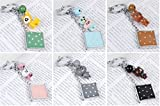 Childrens Mirror Mini Square Shape Cartoon Small Glass Mirrors for Crafts Decoration Cosmetic Accessory