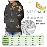 Women's Hoodie Seamless Gold Pattern with King