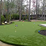"KINGTOP Checkered Golf Flag with Tube Inserted, All 8"" L x 6"" H, Putting Green Flags for Yard, 420D Nylon Mini Pin Flags"