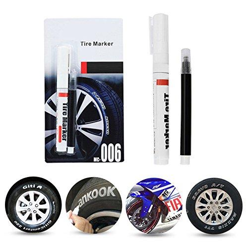 (COGEEK Paint Pen Cool White Large Volume Letter Marking Pen Marker for Car Tires)