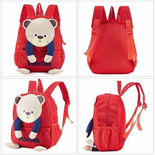 6años. ideal para niños de 3 color rojo/negro Teddy niños mochila Bolsa para raquetas de tenis