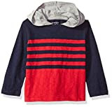 The Childrens Place Boys Hooded Long Sleeve Slub Top, Red, 18-24 Months