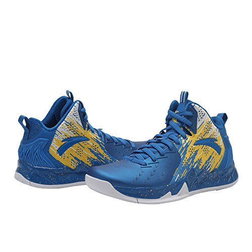 Scarpe Da Basket Anta Mens Kt2 2017 Kt2-post Away-royal Blue / Yellow / White