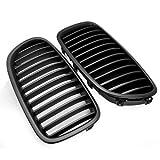 Matte Black Euro Front Upper Kidney Grille Grill For BMW F10 5-Series 4-Door Sedan 520i 523i 525i 528i 530i 535i 550i 2010 2011 2012 2013 2014