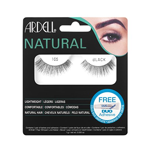 Ardell Fashion (Ardell Fashion Lashes, 105 Black, 1 Pair (Pack of 3))